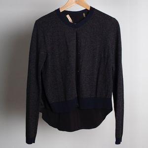 REBECCA TAYLOR Marino Wool Cashmere Silk Cardigan